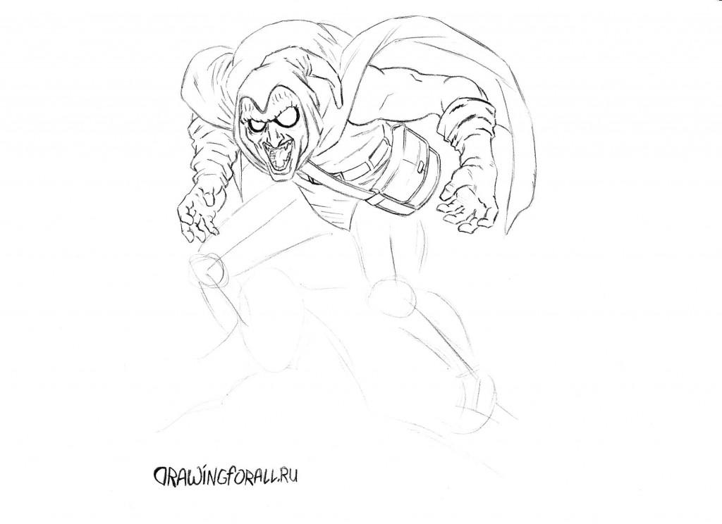 Как нарисовать Домового из Человека-Паука