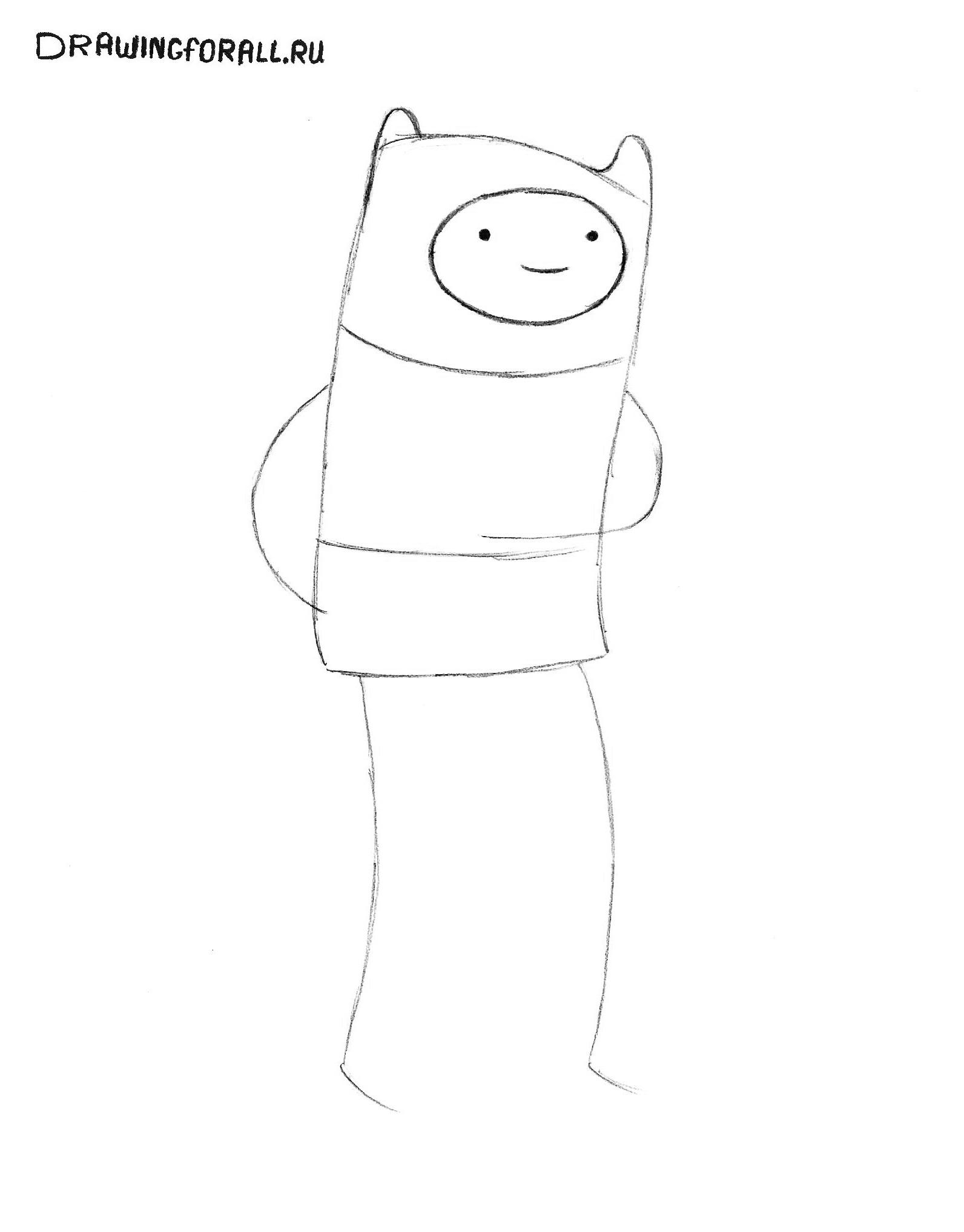 Рисунки из мультика время приключений карандашом поэтапно
