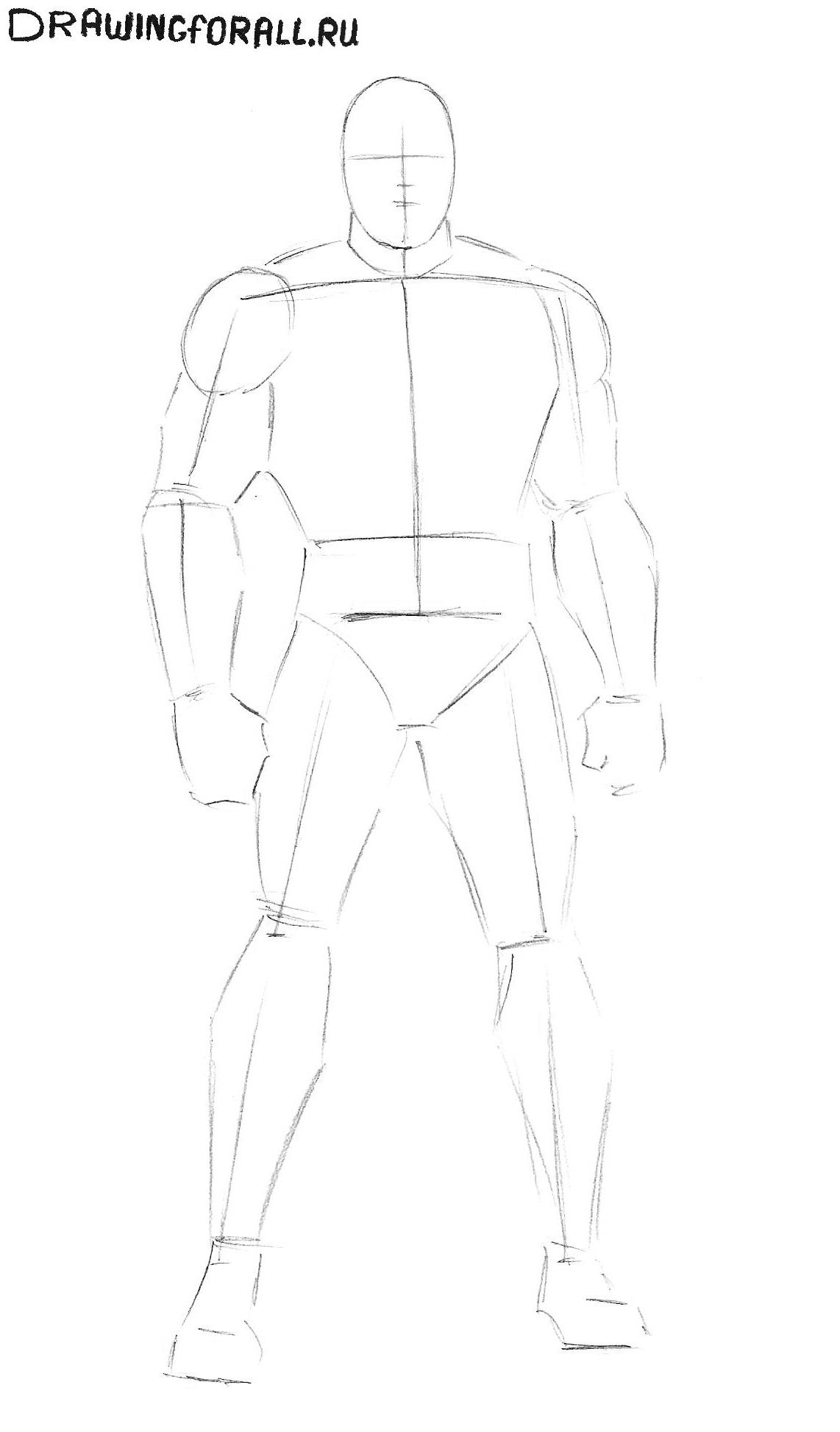 Как нарисовать капитана америка карандашом