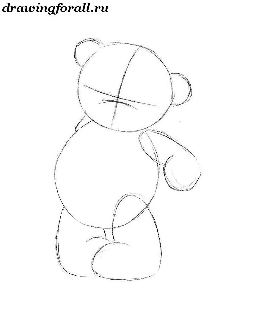 Как нарисовать мишку поэтапно