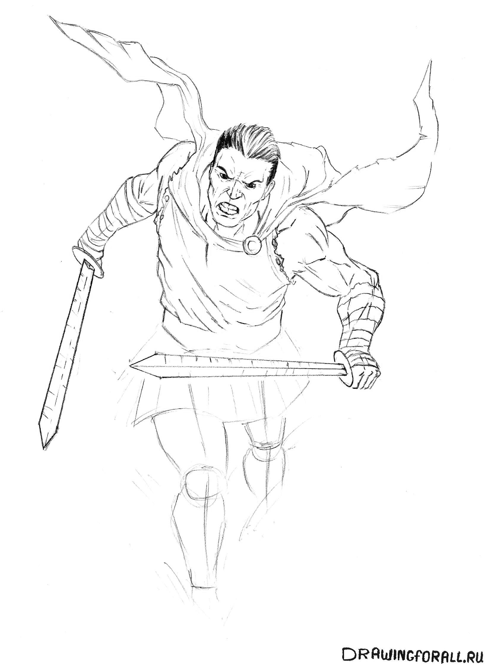 Как нарисовать римского легионера