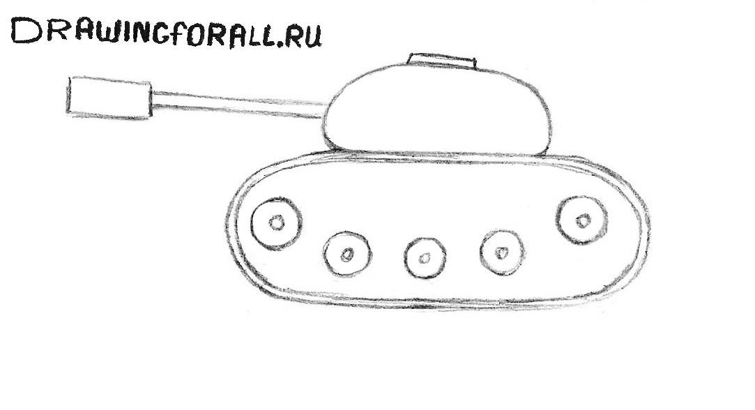 Как нарисовать танк для начинающих