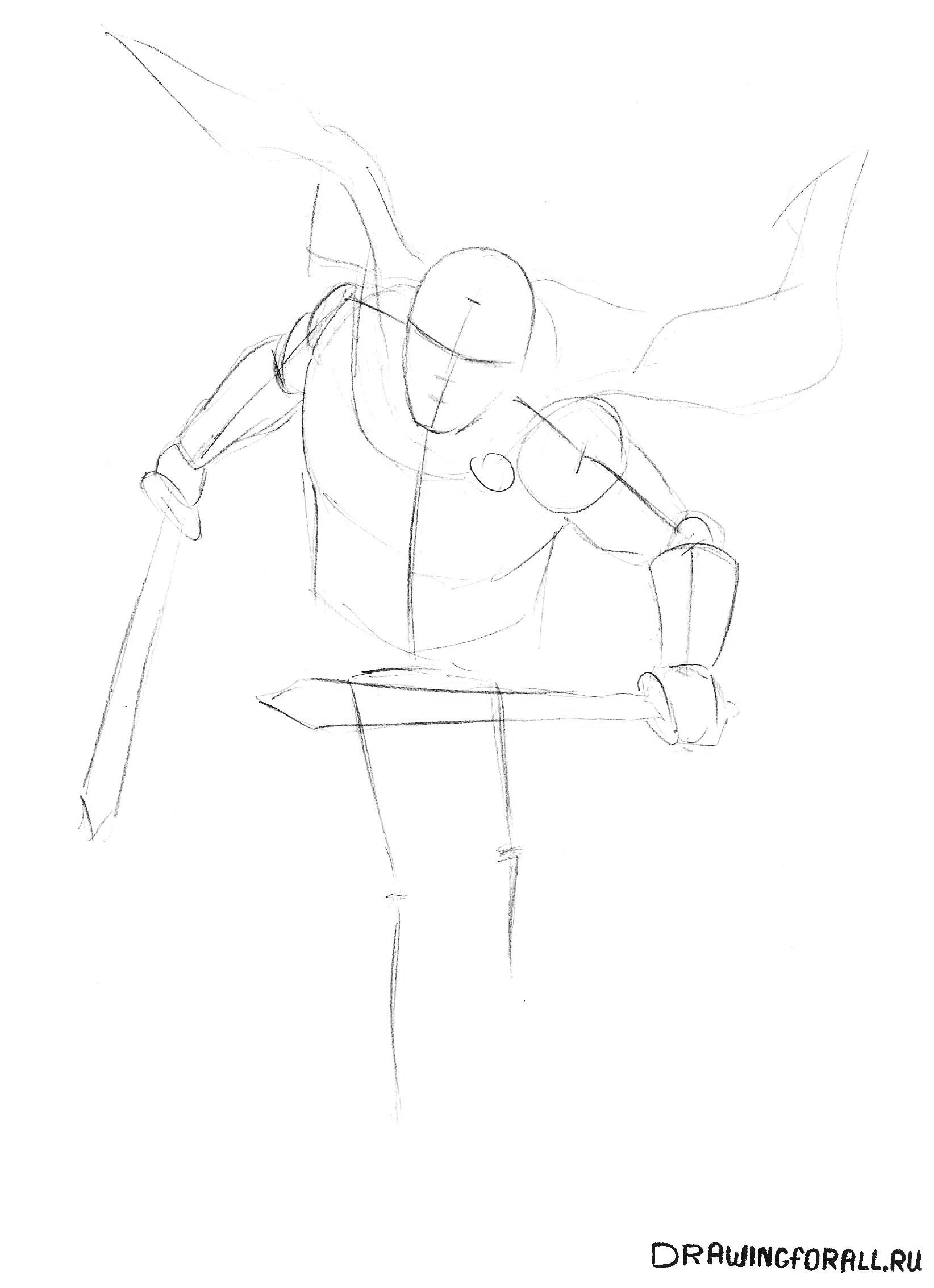 Как рисовать воина