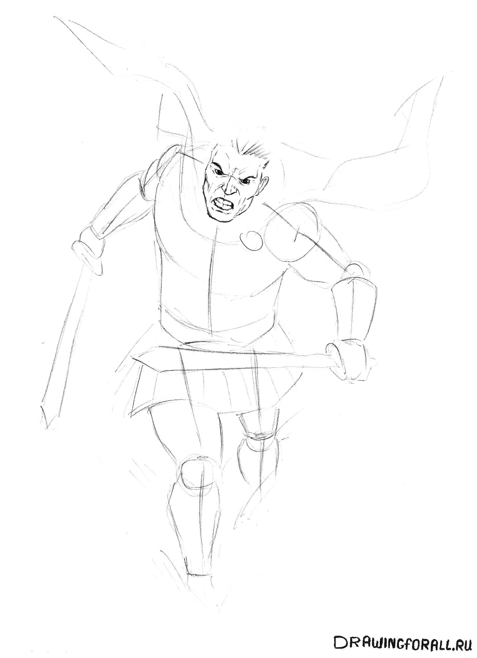 Как рисовать легионера