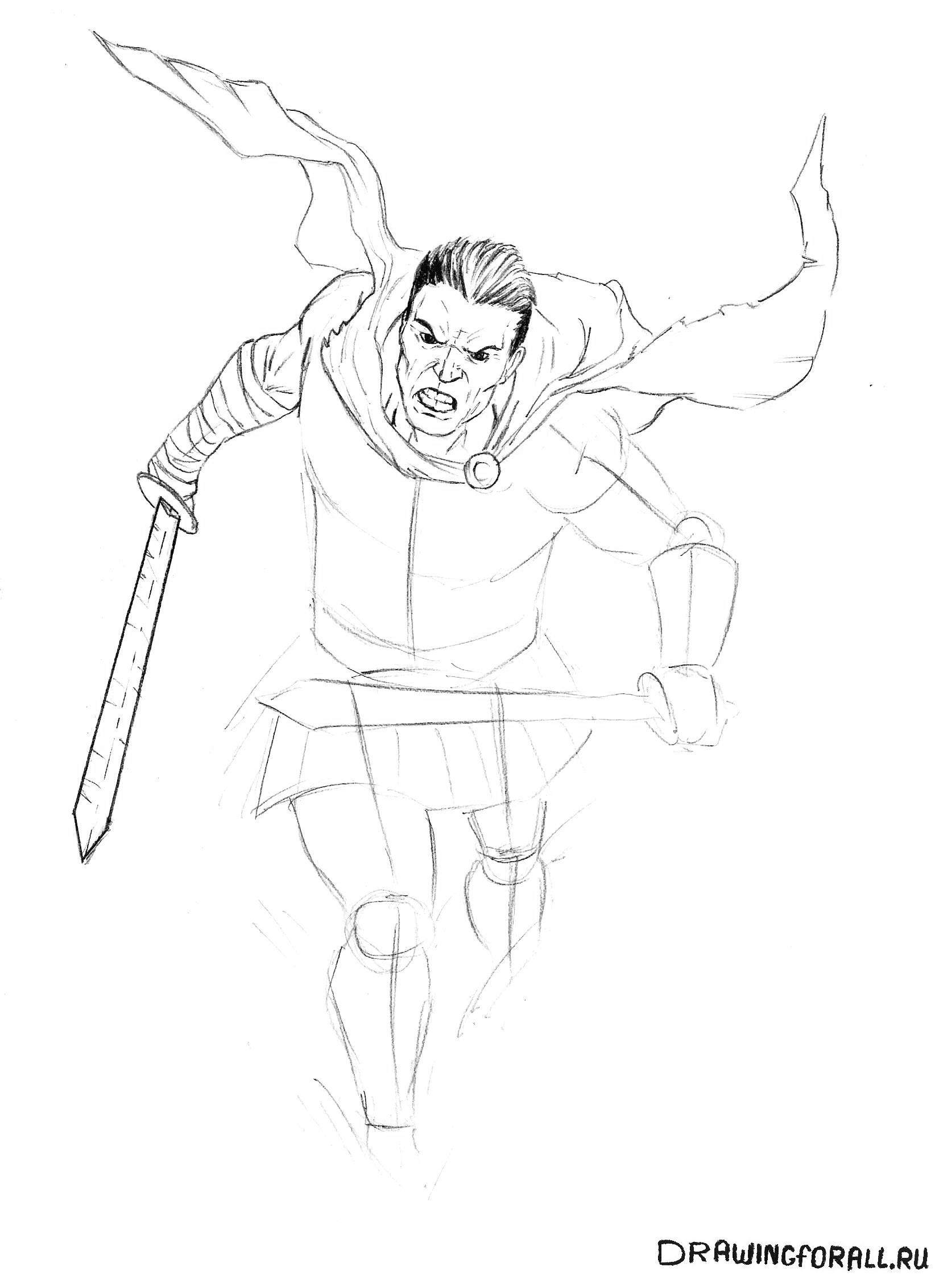 Рисуем меч