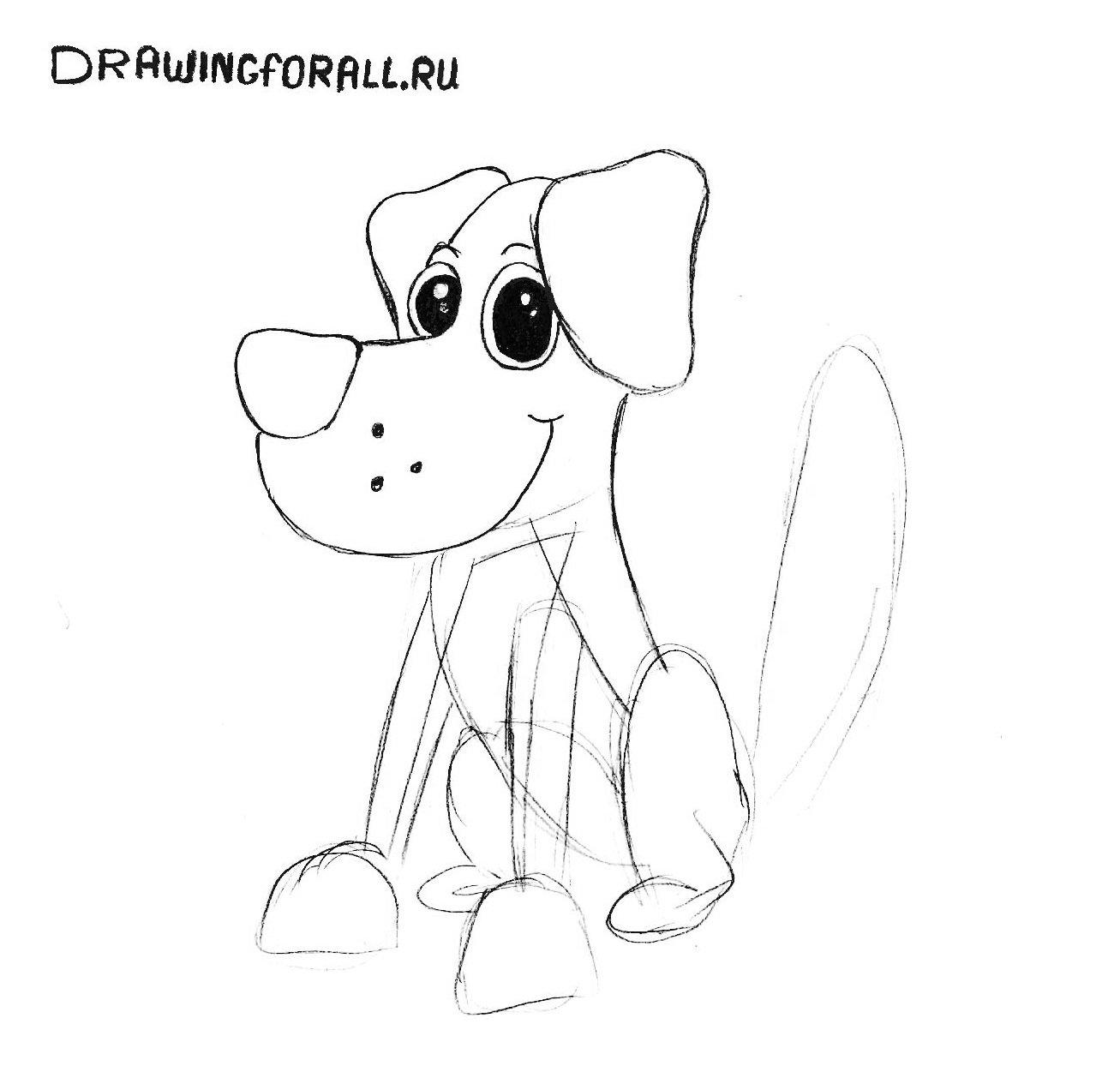 Собаки картинки нарисованные