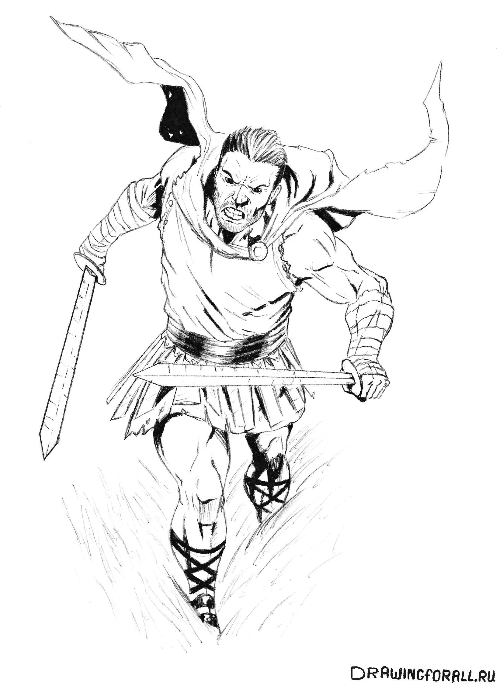 как нарисовать легионера поэтапно
