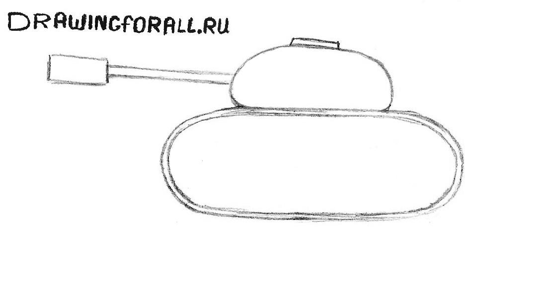 как нарисовать танк для начинающих поэтапно