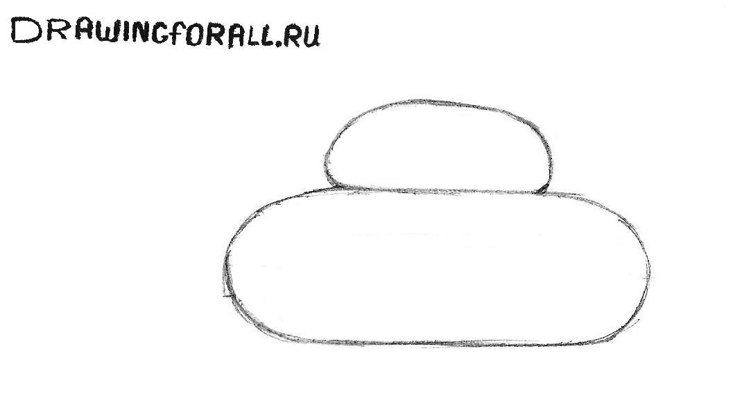 как нарисовать танк ребёнку