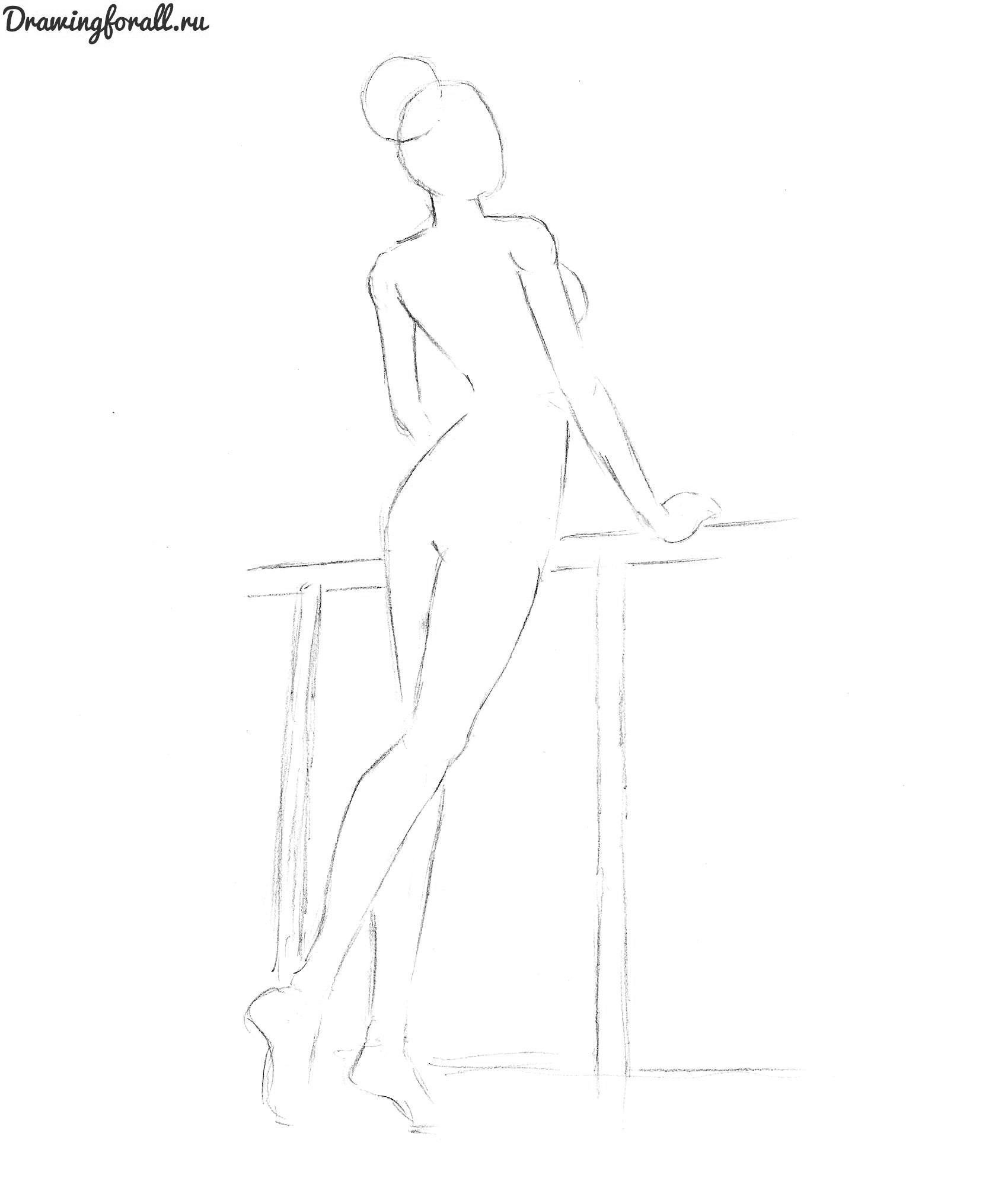 как нарисовать голую девушки