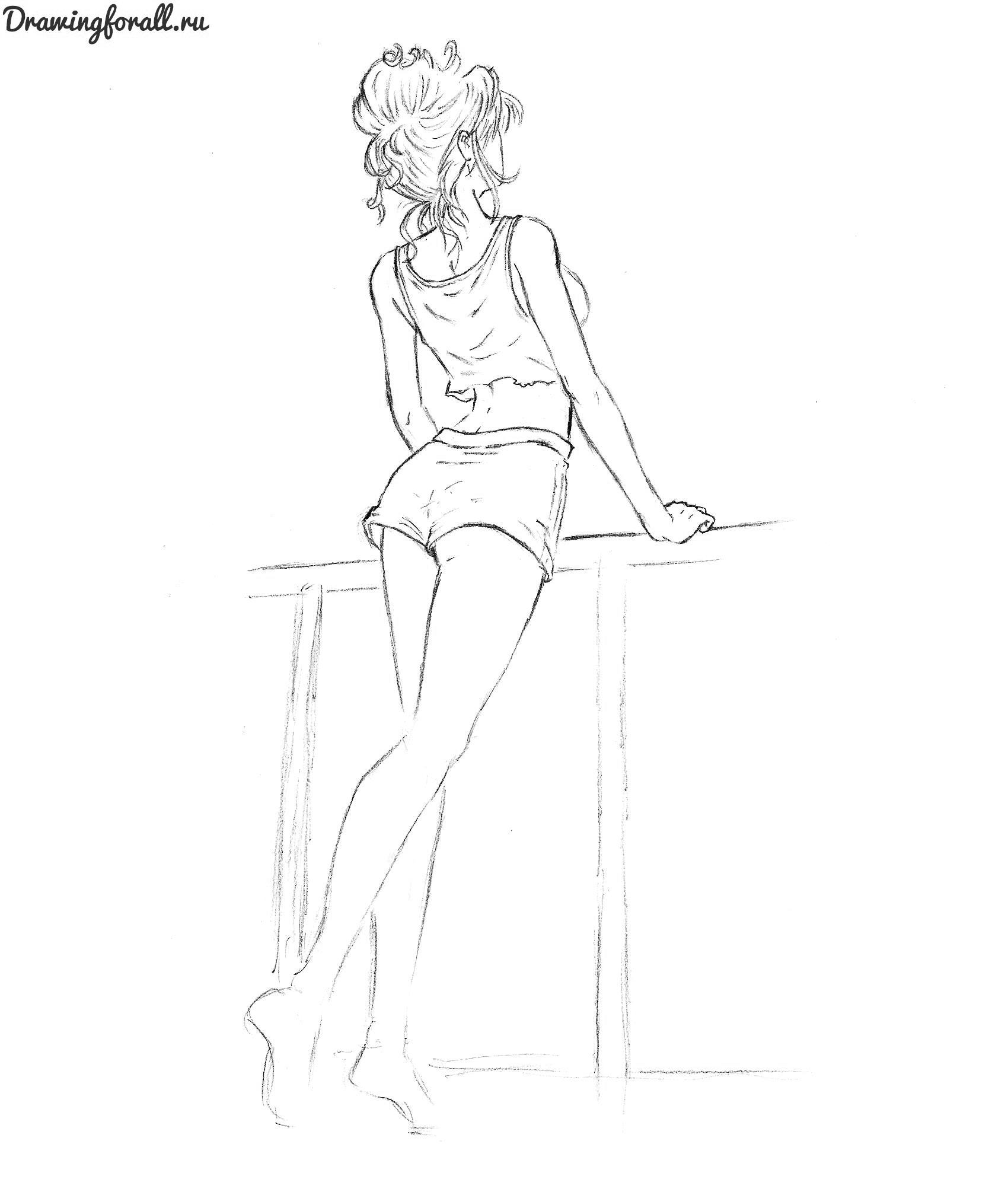 Девушки рисунок