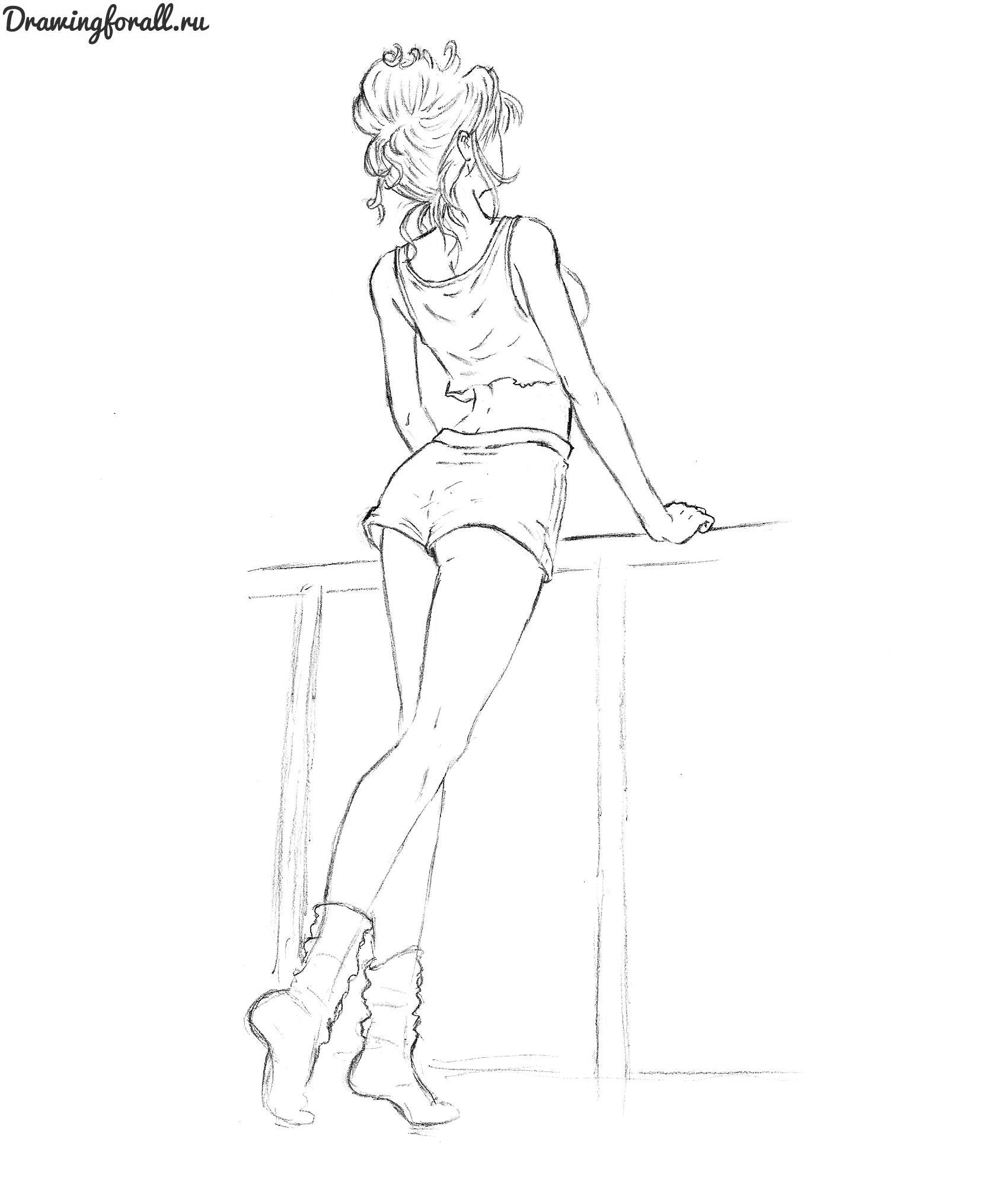 Девушка рисунок