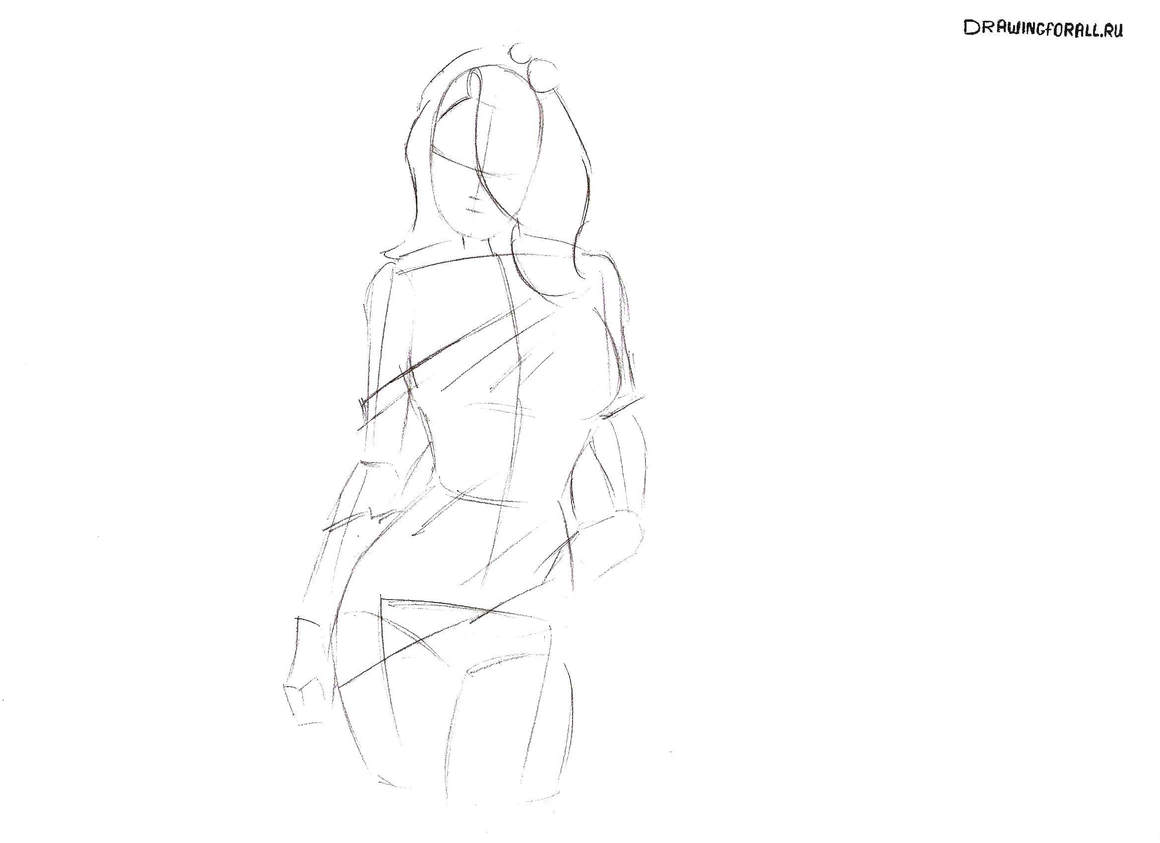 как красиво нарисовать девушку