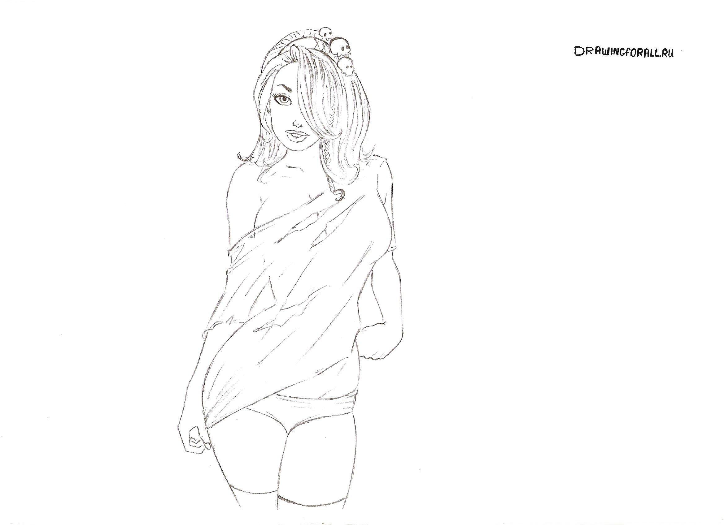 Как нарисовать эротическую девушку — photo 14