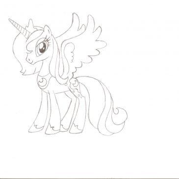 Как нарисовать пони принцессу Луну