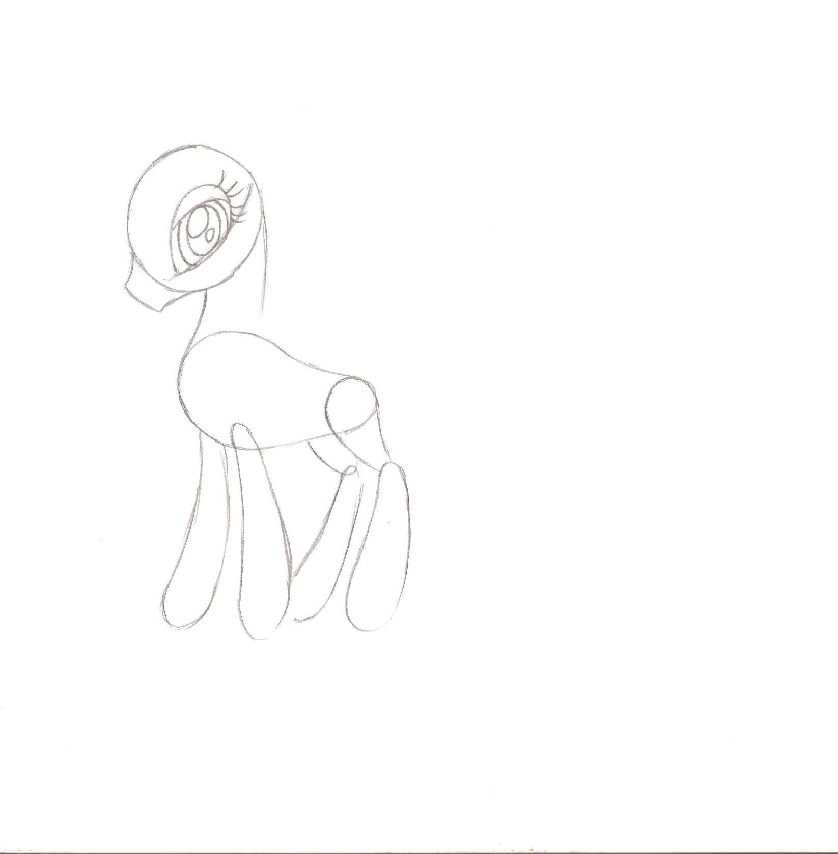 как нарисовать принцессу луну пони