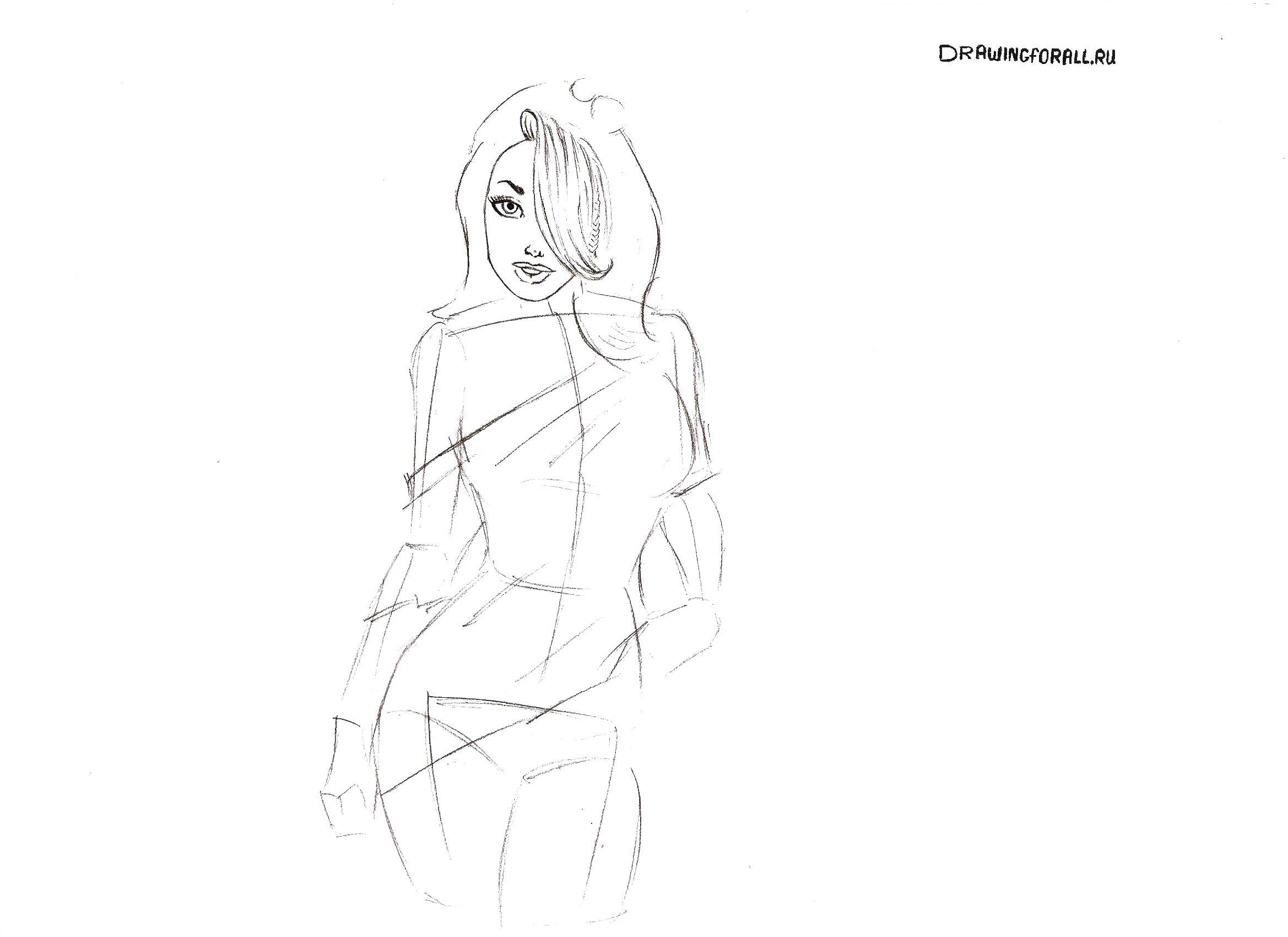 как нарисовать человека девушку