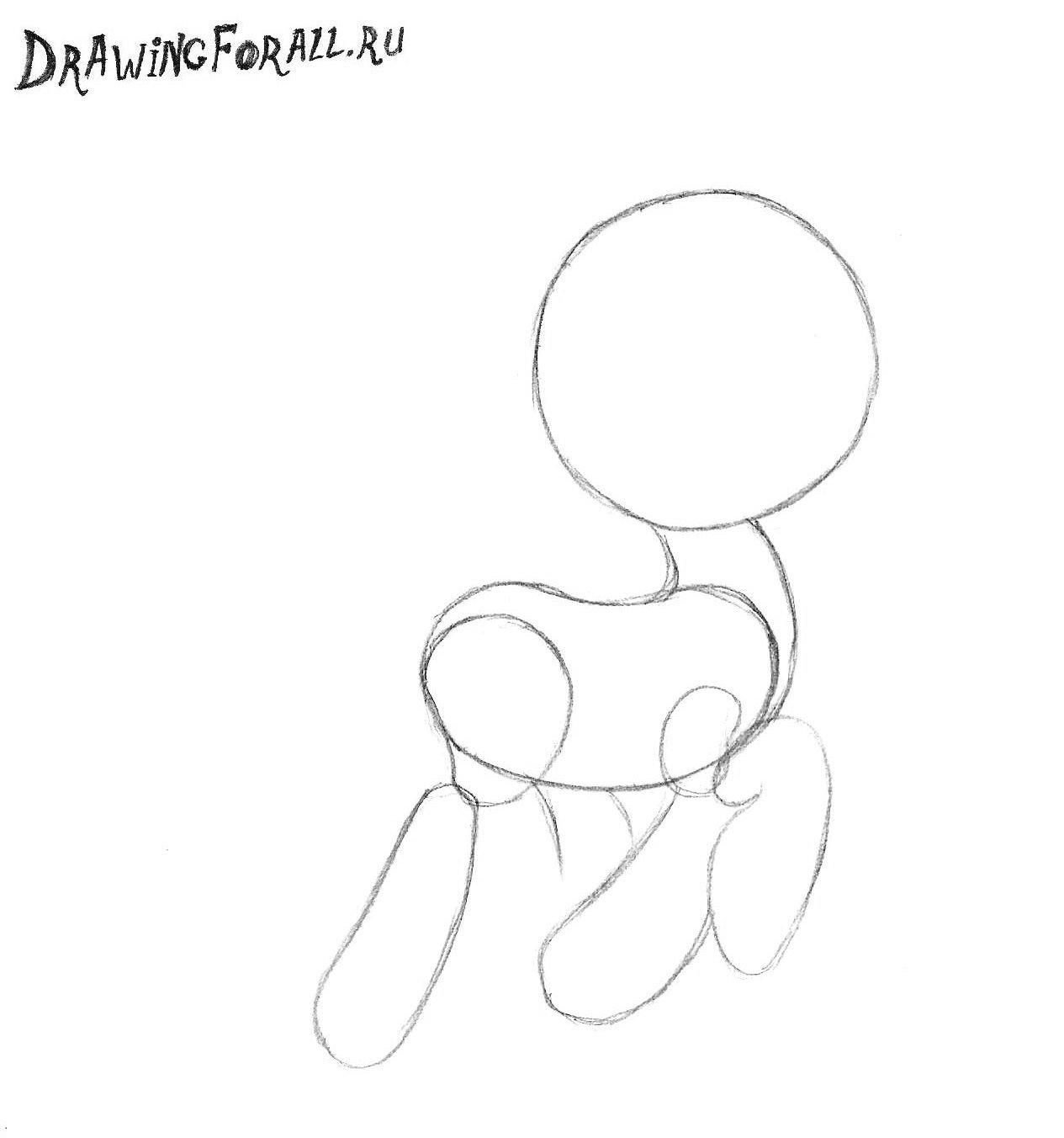 как нарисовать пони пинки пай карандашом