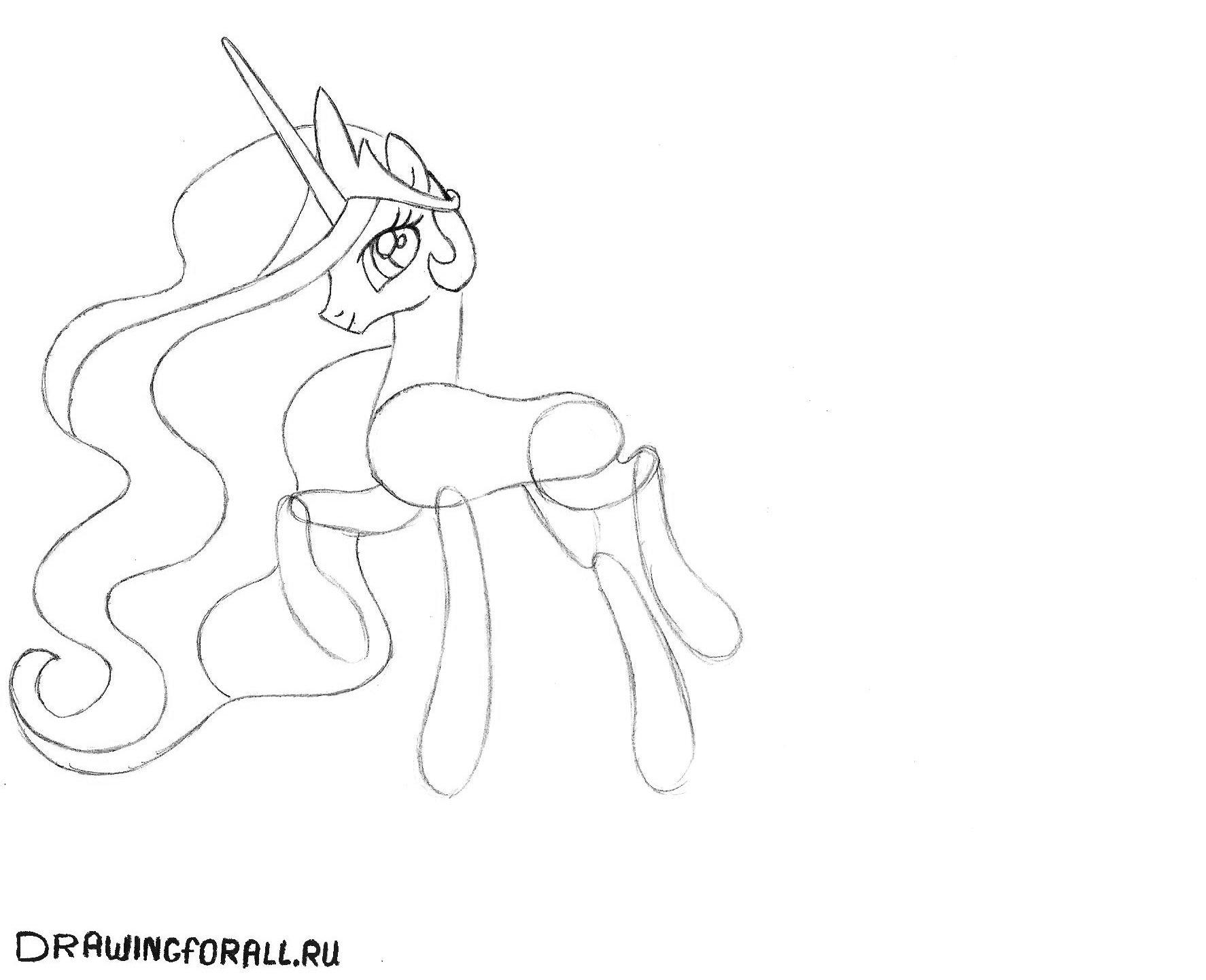 Принцесса селестия как нарисовать