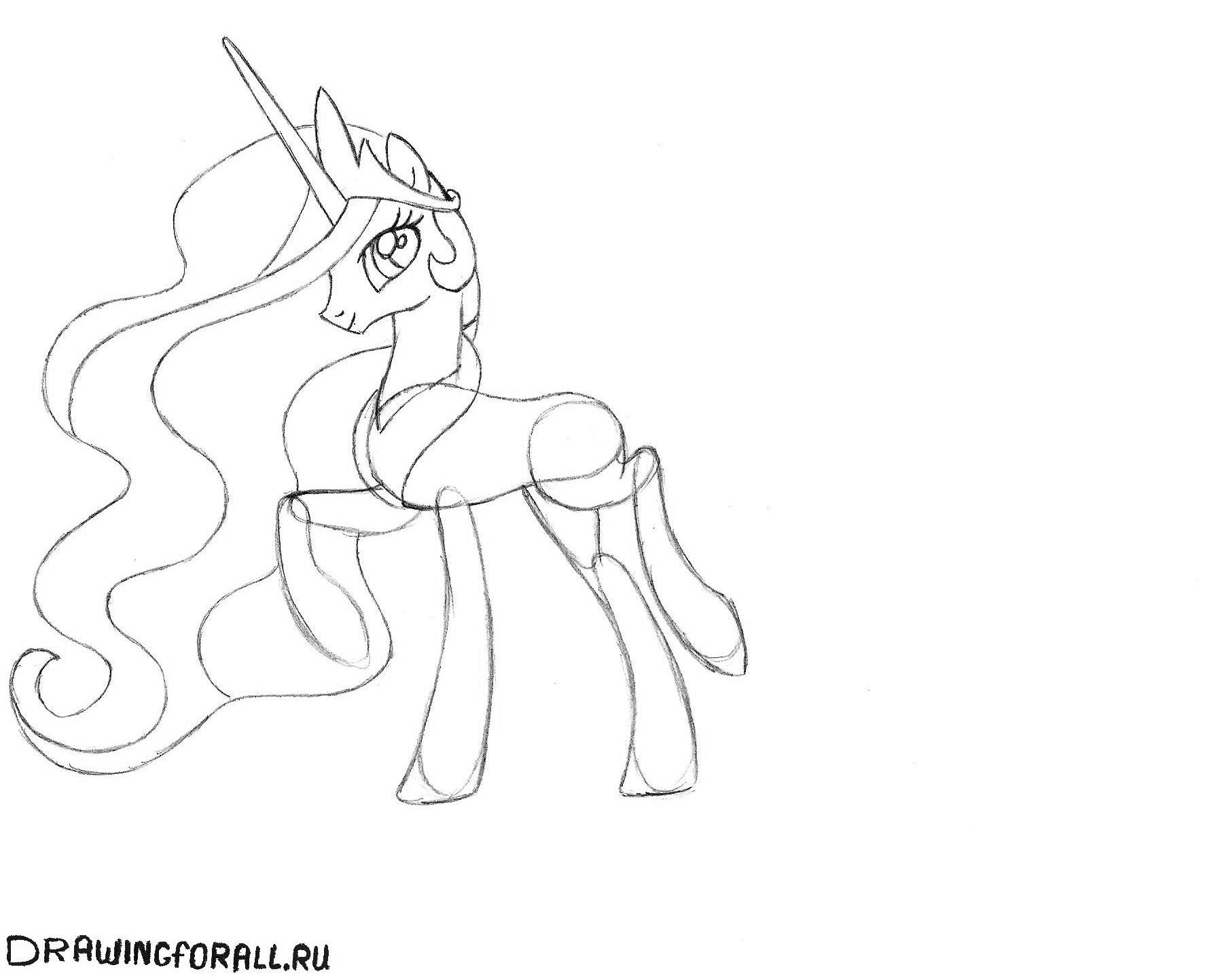 Принцесса селестия рисунок