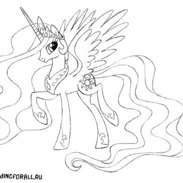 Как нарисовать Принцессу Селестию
