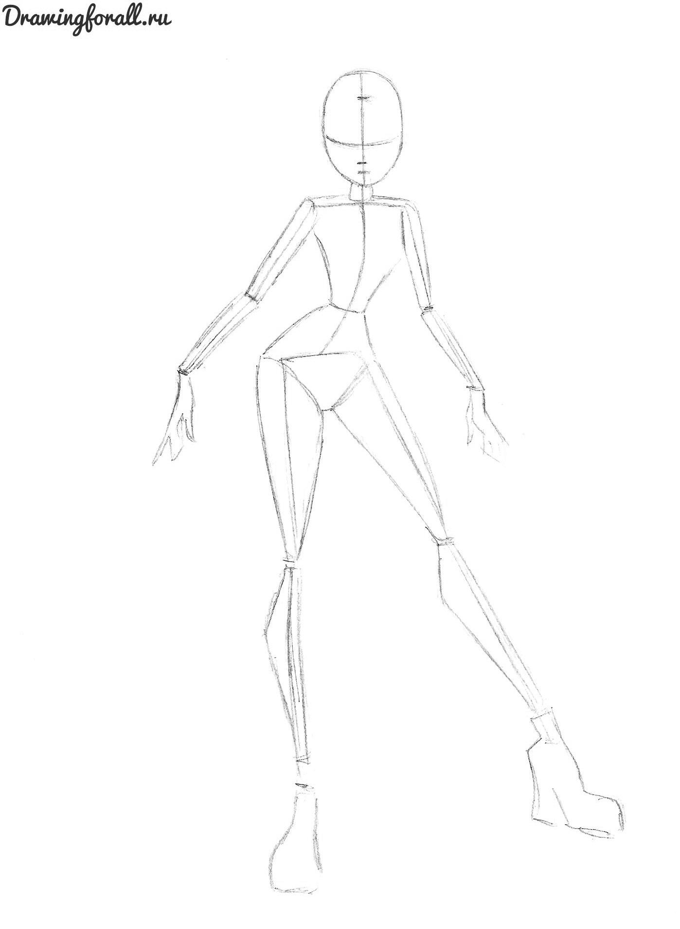 как нарисовать блум карандашом поэтапно