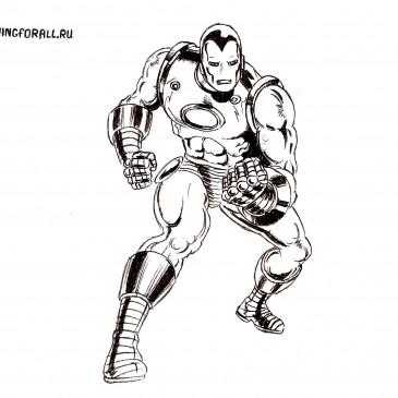 Как нарисовать Железного человека поэтапно