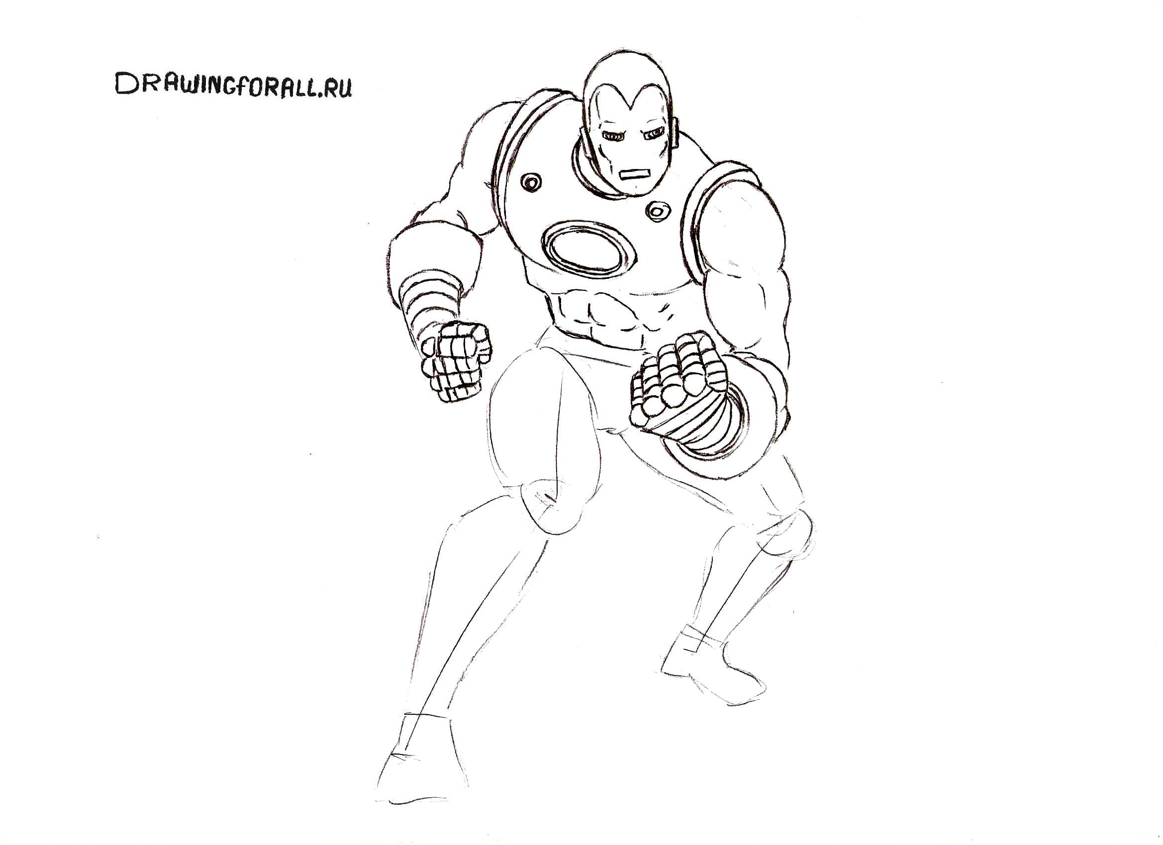 как нарисовать маску железного человека