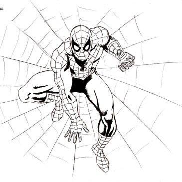 Как нарисовать Человека-Паука поэтапно