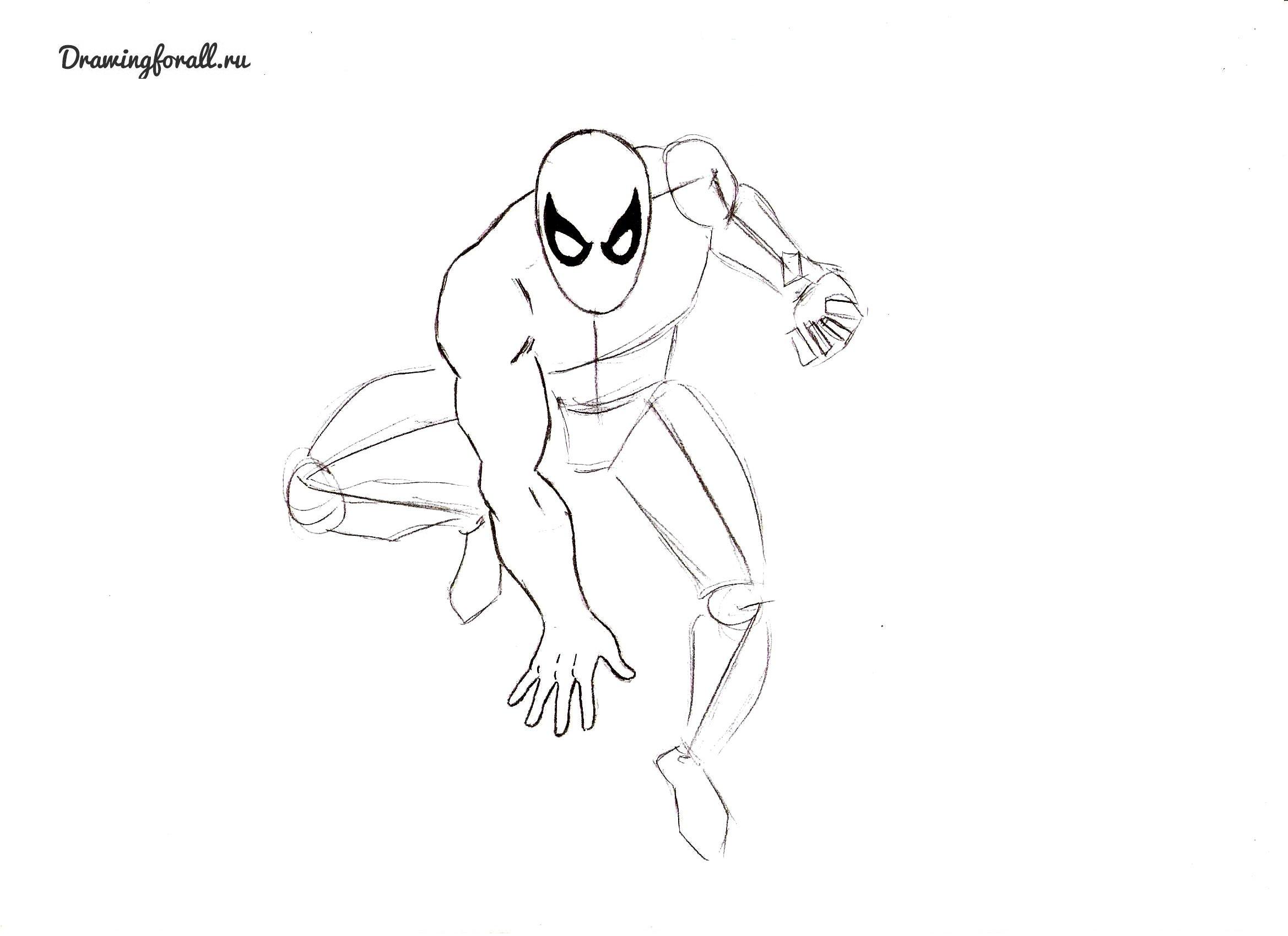 новый человек-паук как нарисовать