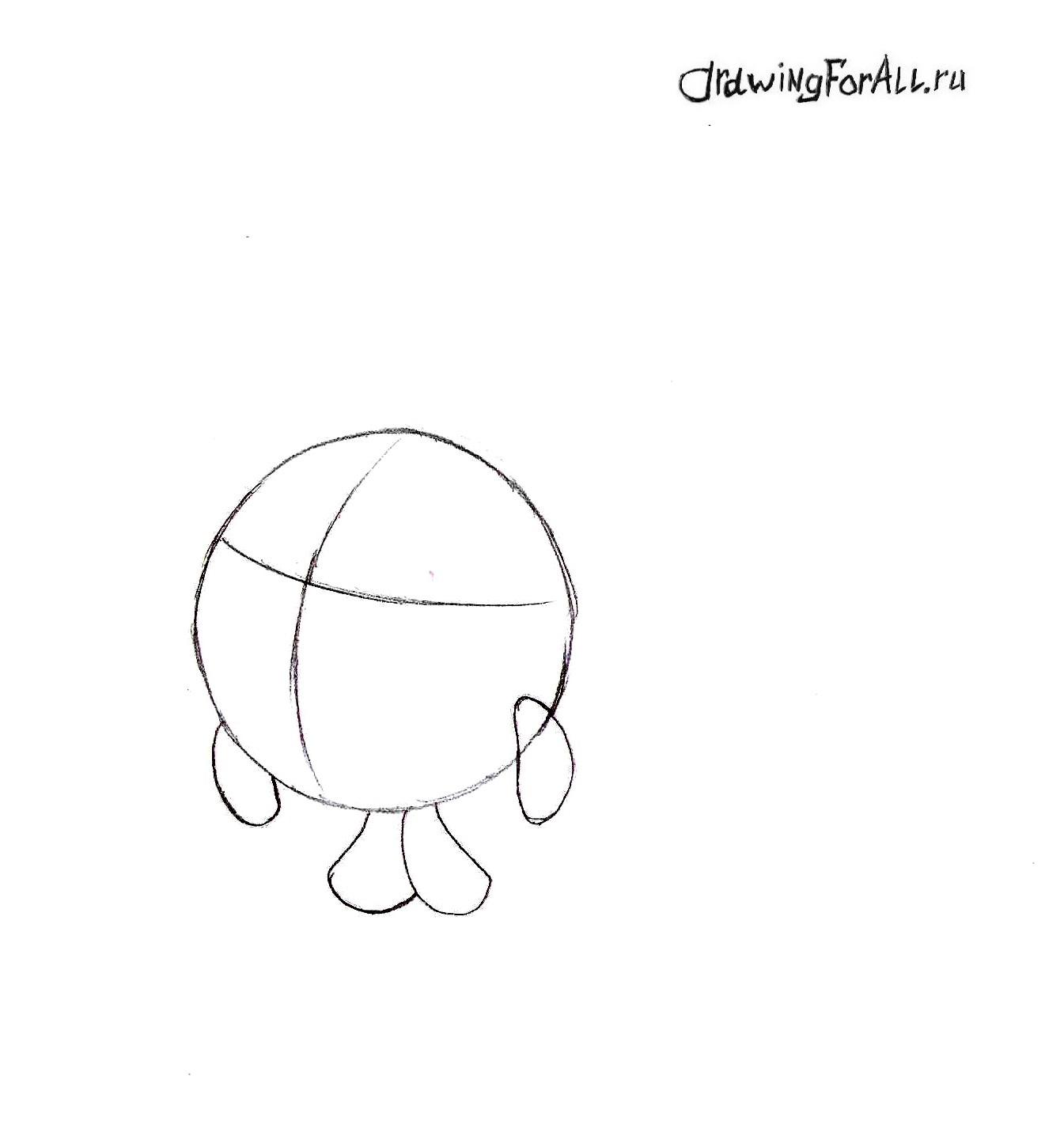 Как нарисовать Смешариков поэтапно