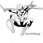 Как нарисовать Человека-Паука карандашом