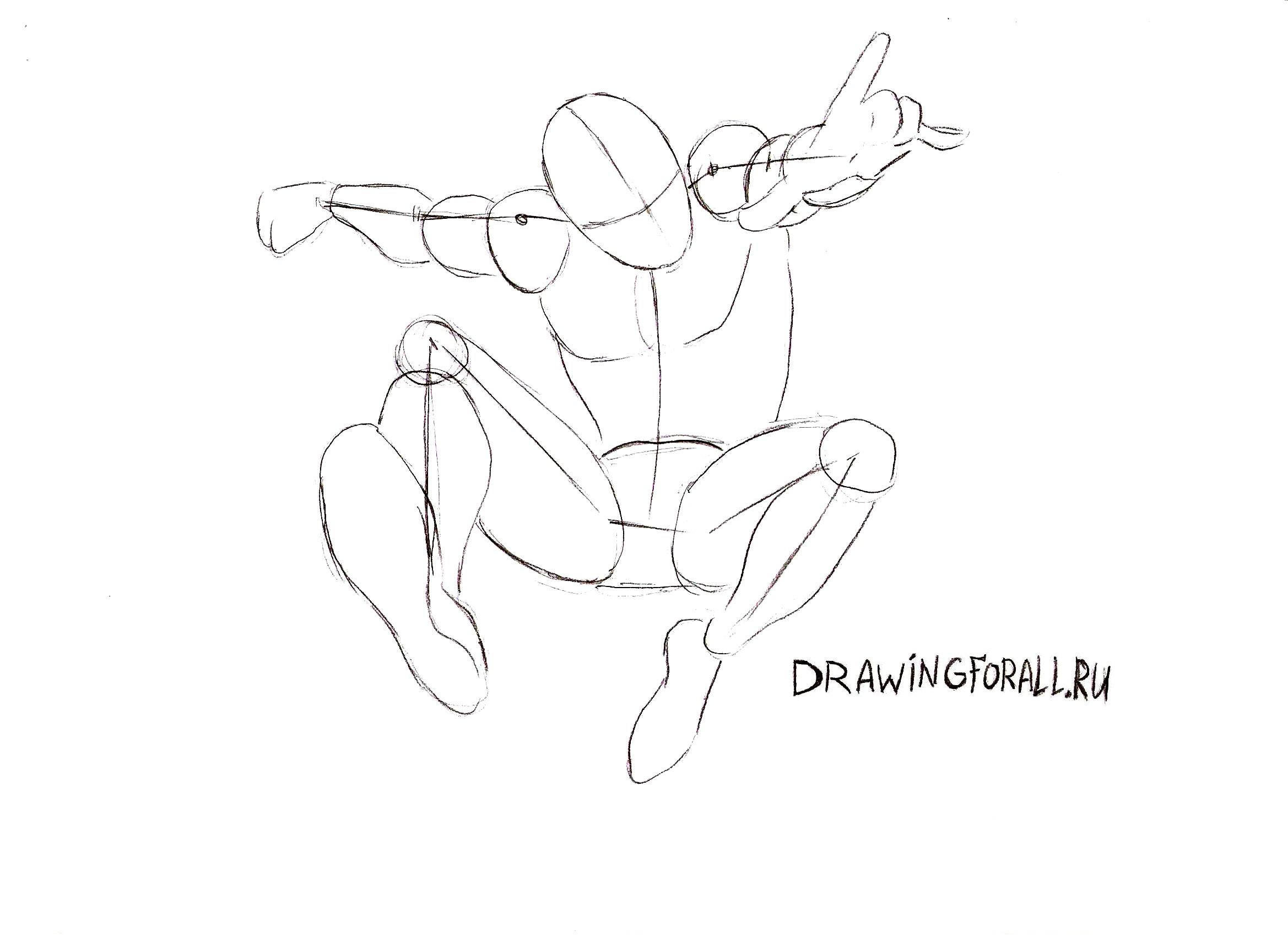 как нарисовать Человека-Паука картинки