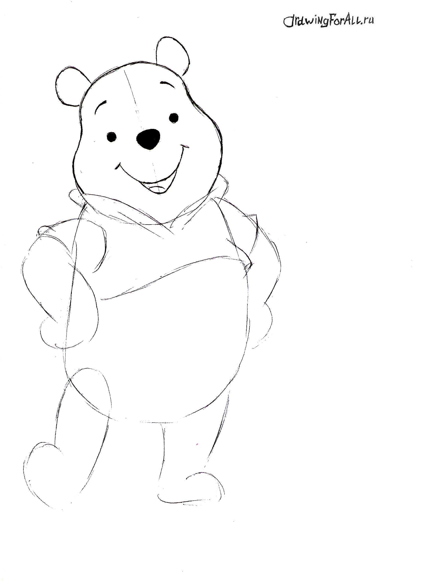 Как нарисовать Винни-Пуха
