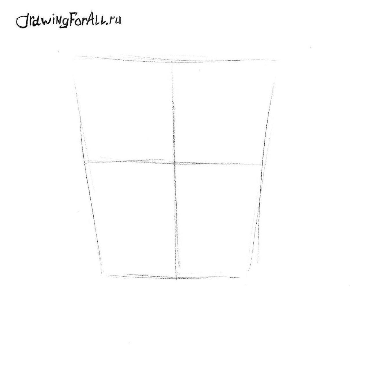 как нарисовать губку боба