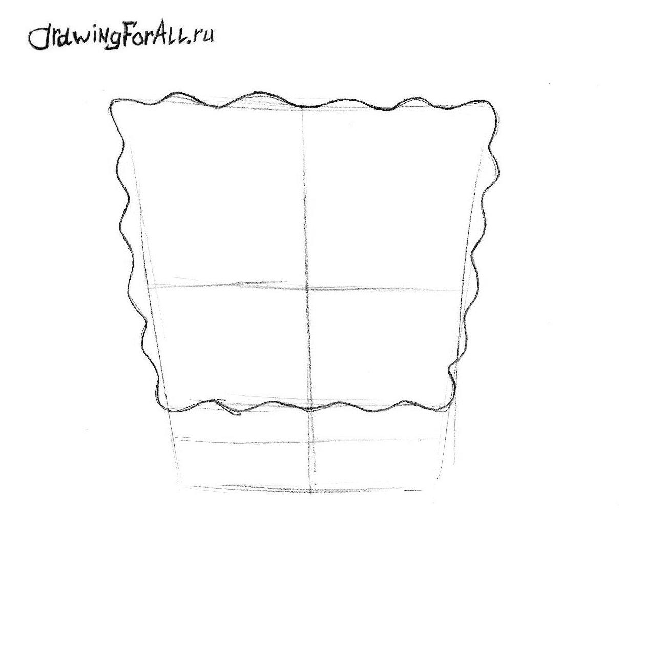 как нарисовать спанчбоба