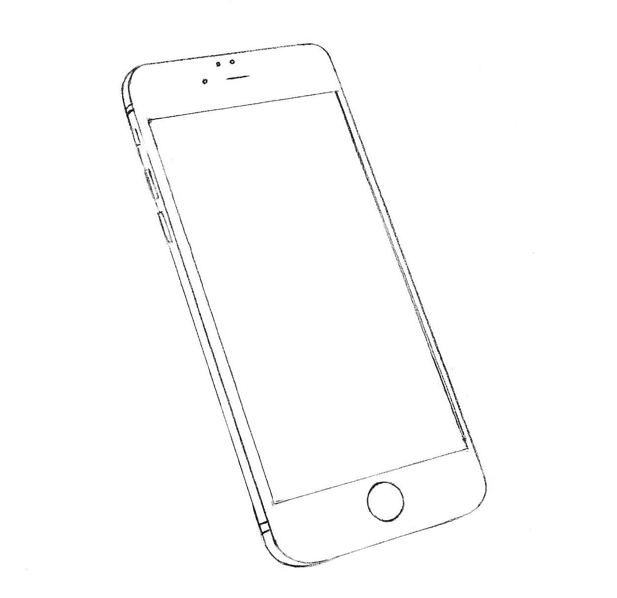 Как нарисовать айфон