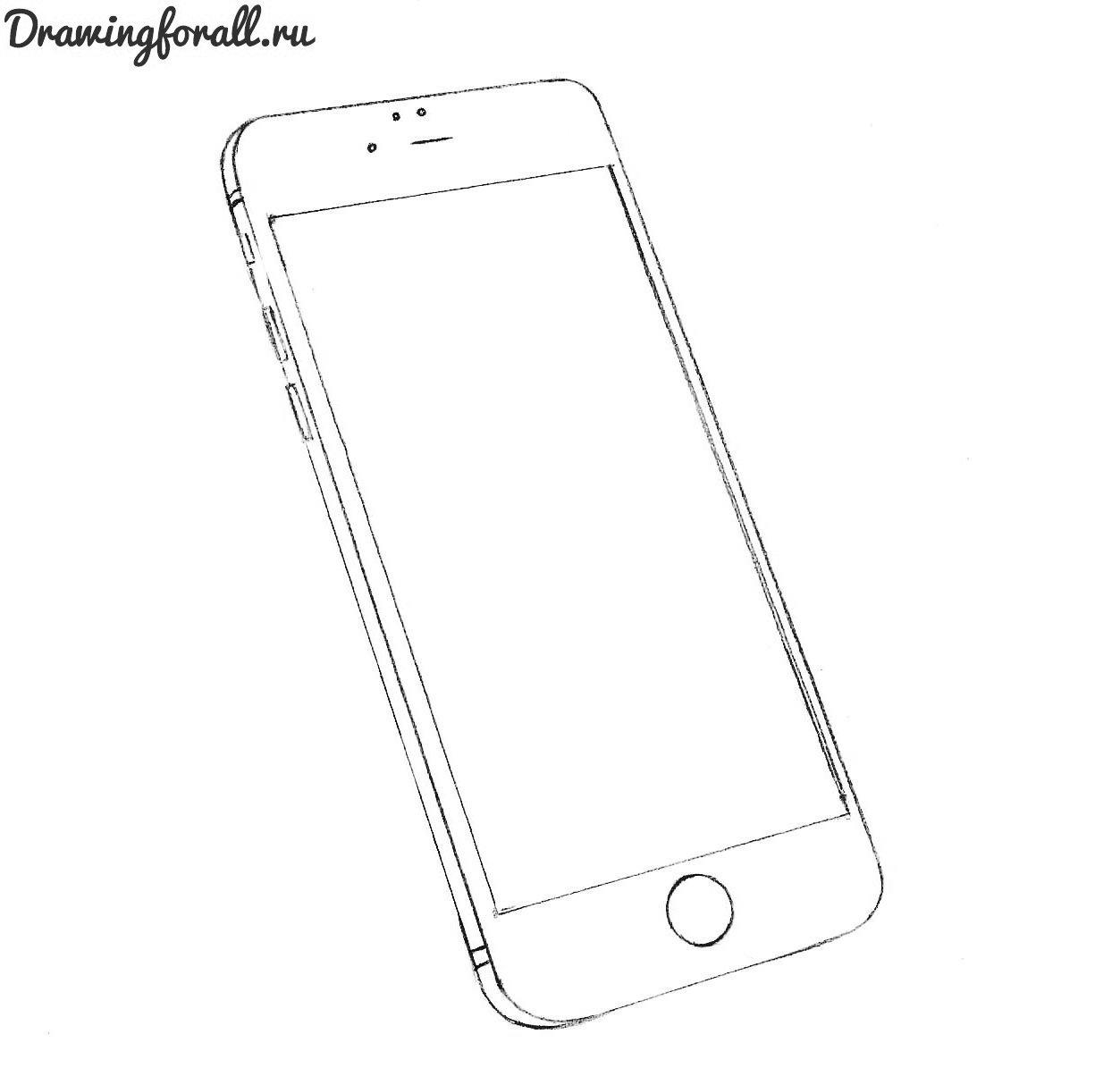 как-нарисовать-айфон-поэтапно