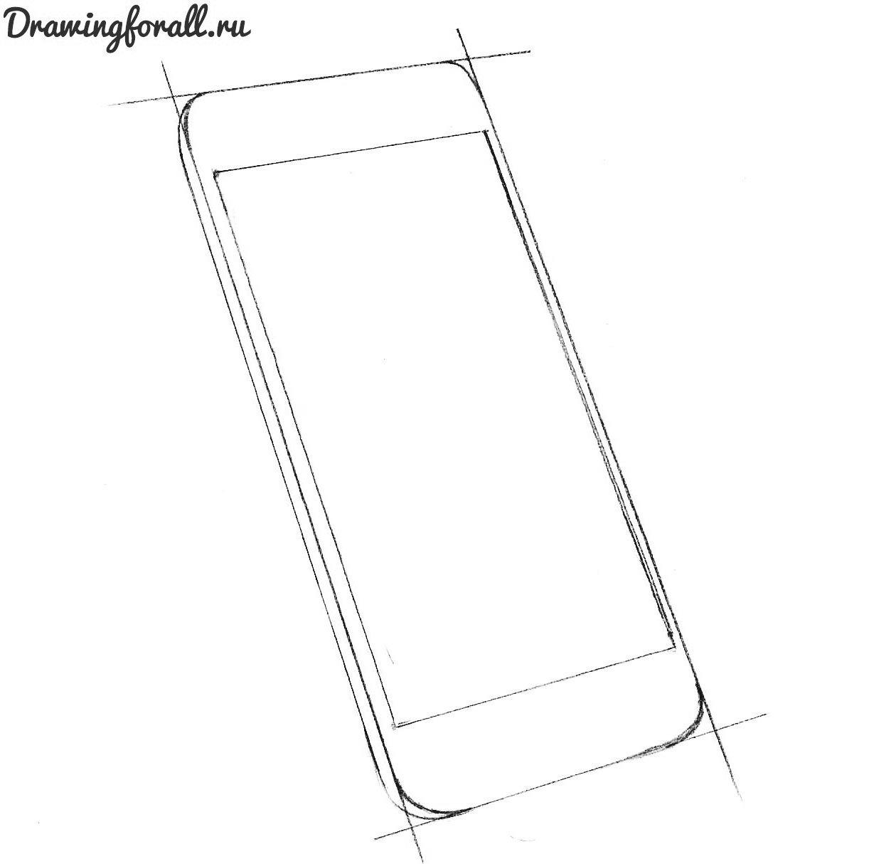 как-нарисовать-айфон-6-карандашом
