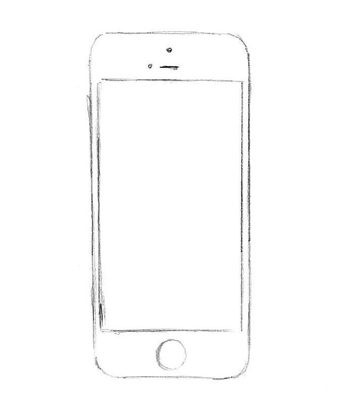 как нарисовать айфон 5