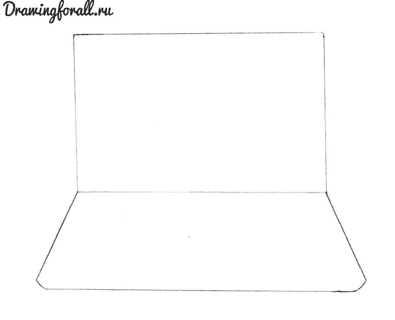 как нарисовать нуотбук