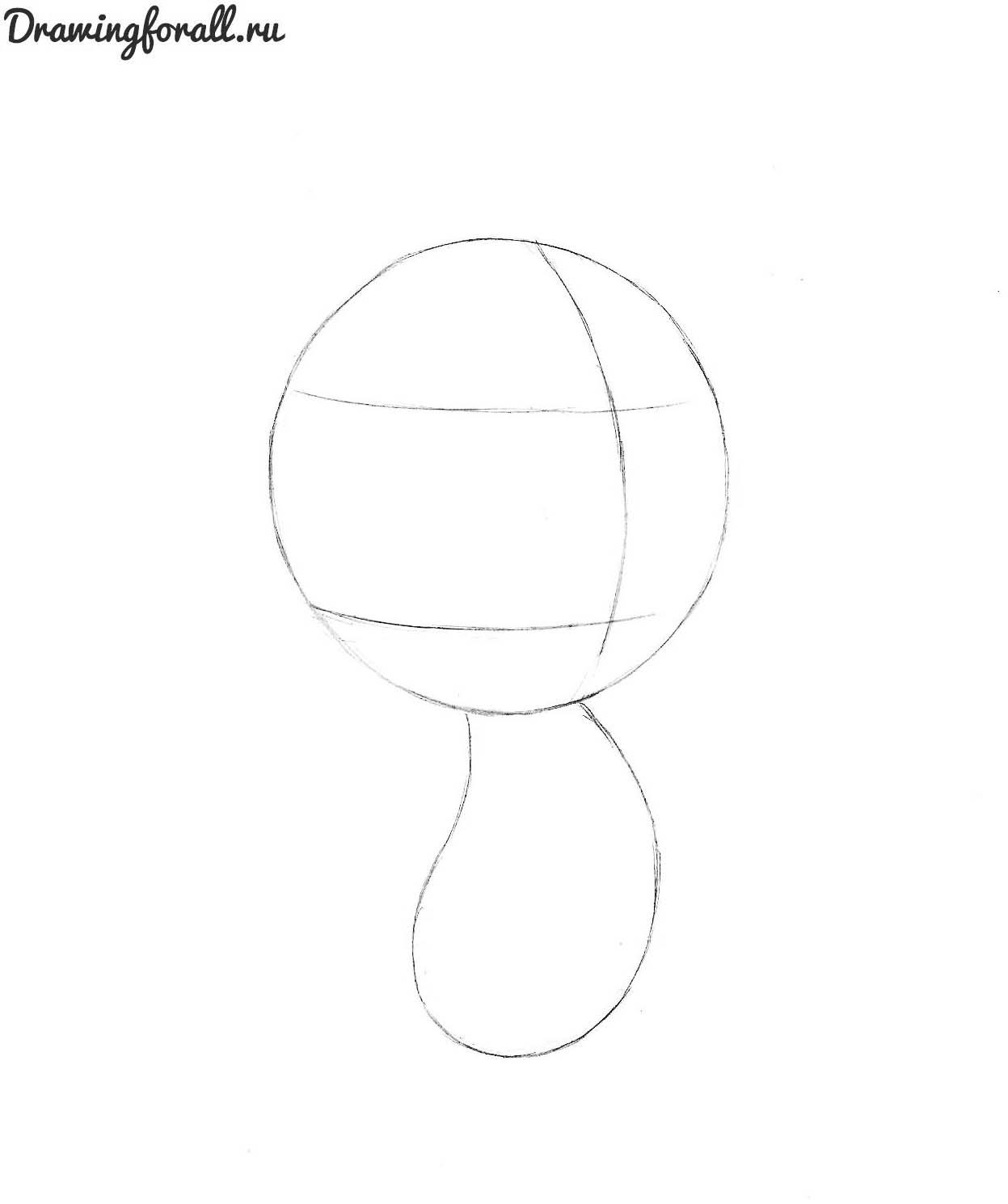 как нарисовать спайка карандашом поэтапно