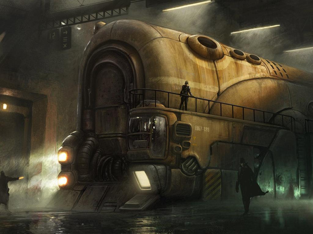 стимпанк поезд