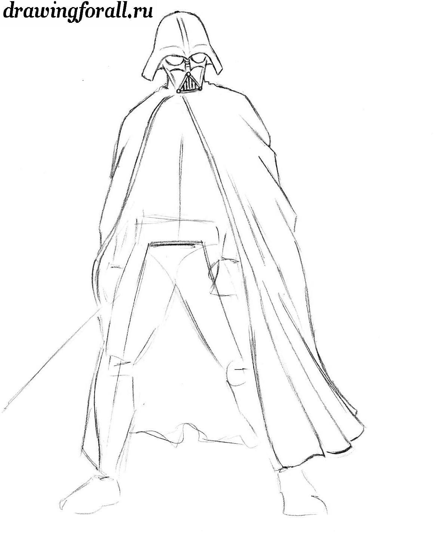 как нарисовать маску дарта вейдера