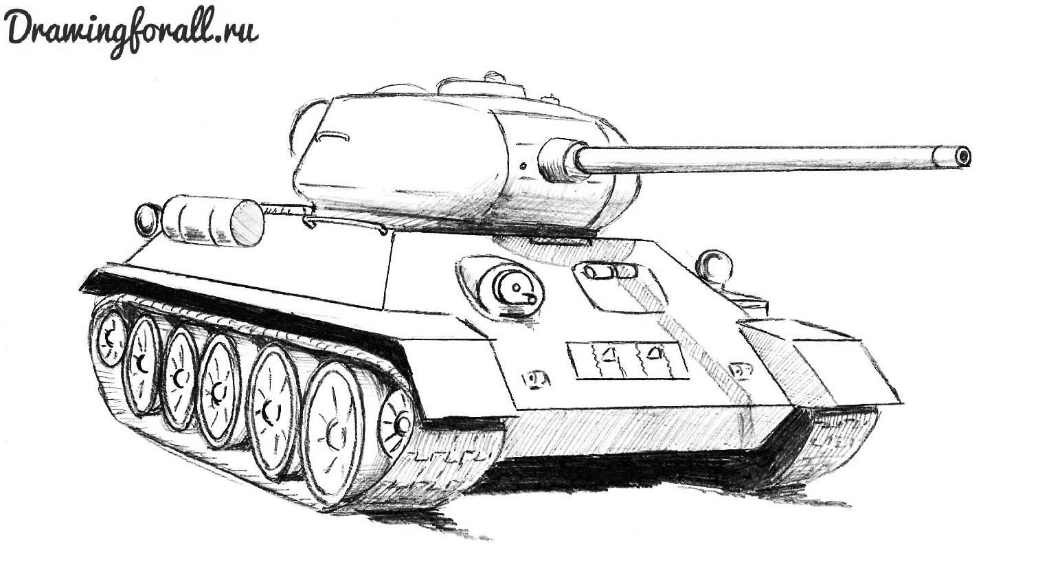 как <em>рисунок танки из world of tanks поэтапно</em> нарисовать танк