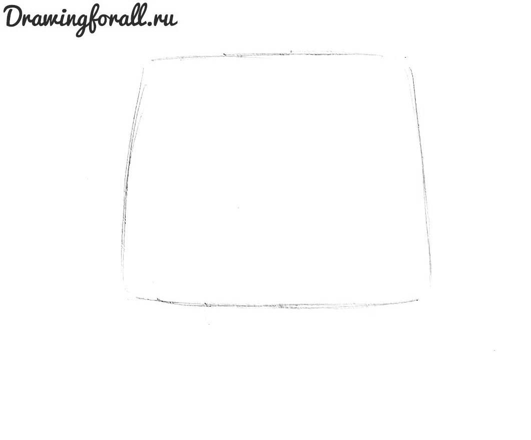 как рисовать тлефон