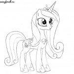 Как нарисовать пони принцессу Каденс