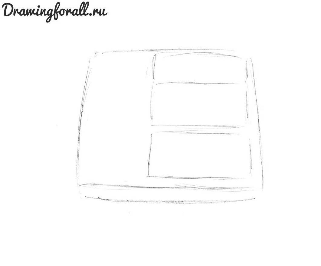 как нарисовать телефон