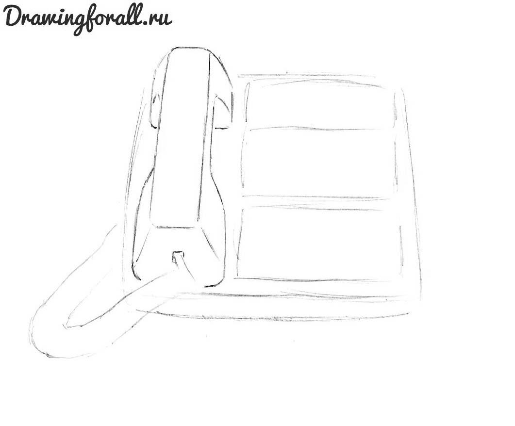 нарисовать телефон