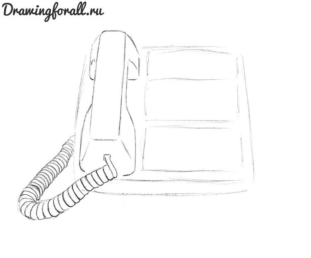 как нарисовать телефон карандашом поэтапно